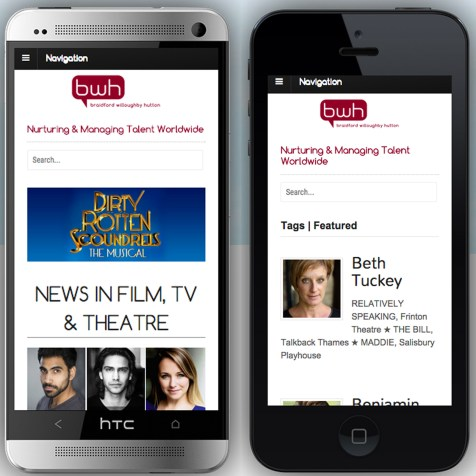 Cross-platform web design and mobile optimisation, BWH Agency