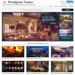 Web Design, Prestigious Venues