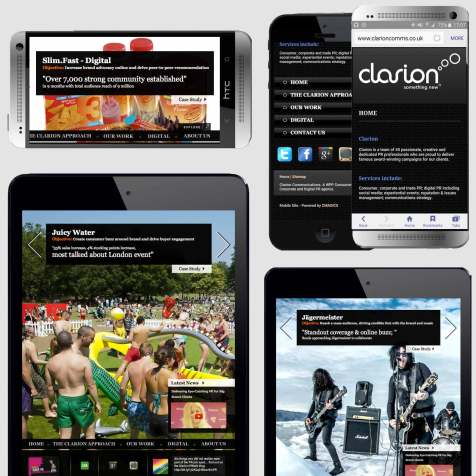 Clarion Website, Digital PR Agency, CMAGICS