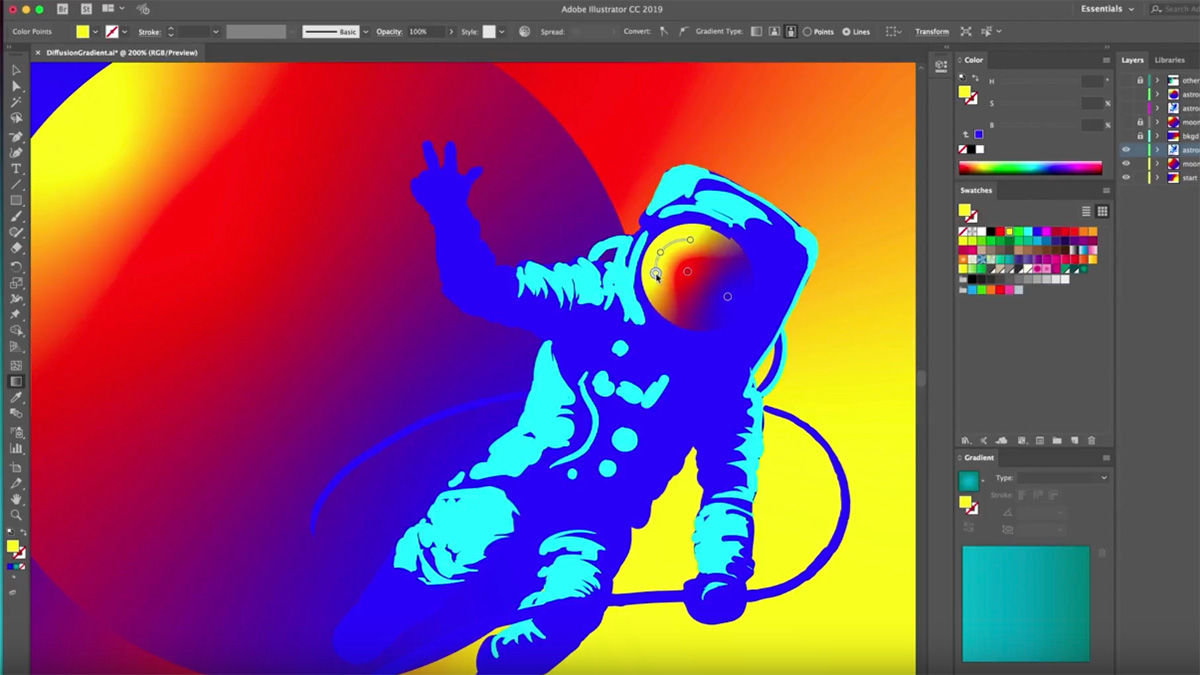 Adobe Photo There S A New Gradient Tool Coming To Adobe Illustrator News