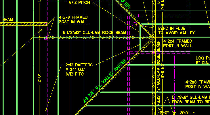 Design Digital Roof Framing Plan Closeup