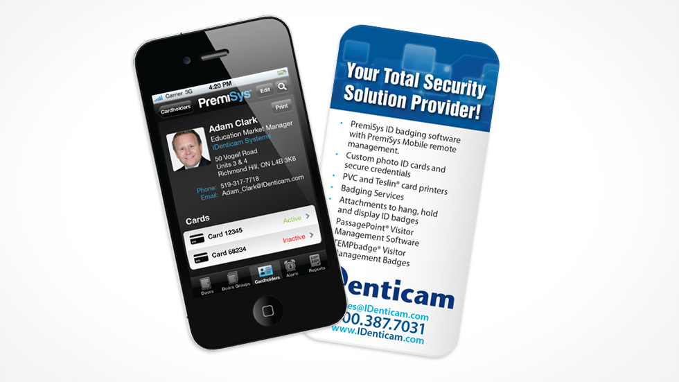 iPhone Shaped Business Cards Digital Canvas LLC