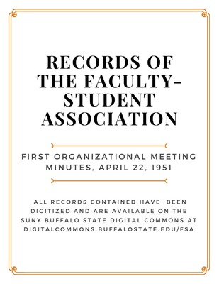 Faculty-Student Association Records State University of New York - minutes of organizational meeting