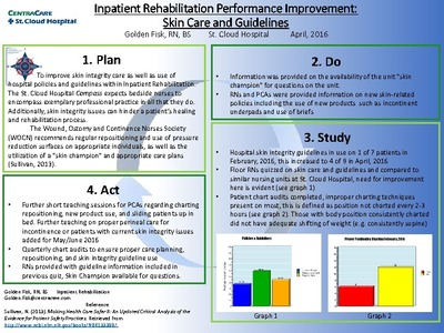 Nursing Posters Posters and Scholarly Works CentraCare Health - performance improvement plan definition