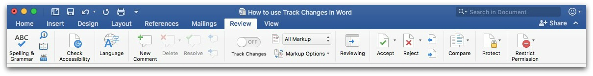How to use Track Changes in Word Digital communications team blog
