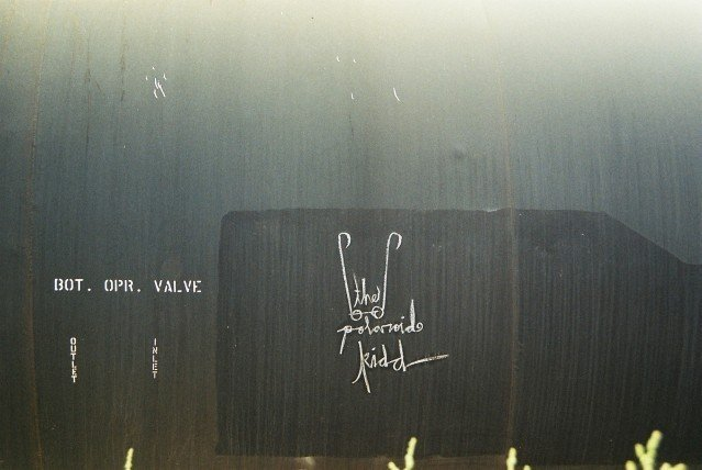 The Polaroid Kidd marking on a Freight Train in Chandler
