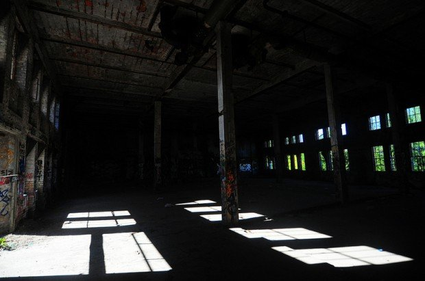 Large empty hall on the second floor of the Eisfabrik