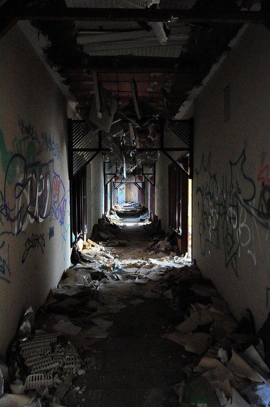 trashed hallway