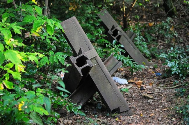 anti tank barriers military training ground germany