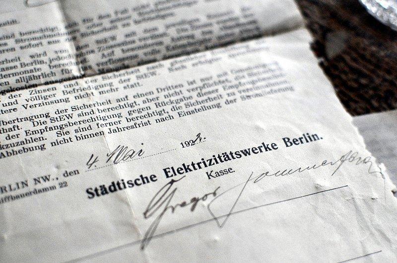 1920 elektrizitaetswerk berlin rechnung