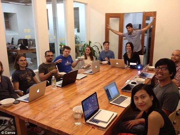 The Canva Team at work in their office in Australia. They also have a team that sits out of Philippines.