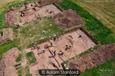 The dig site, Dorstone, Herefordshire.