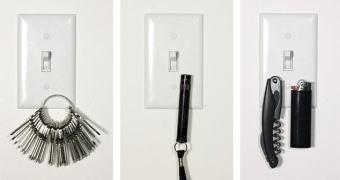 Guarde as chaves no interruptor de luz