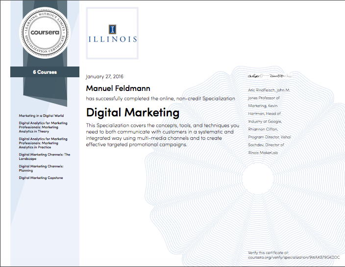 how the illinois digital marketing specialization boosted