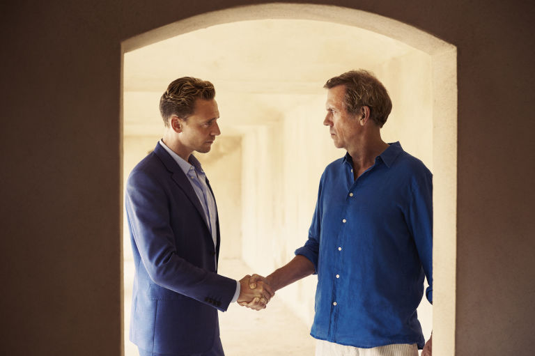 Jonathan Pine and Richard Roper in The Night Manager