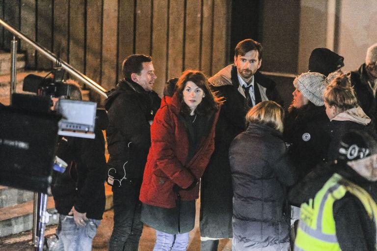 Jodie Whittaker, David Tennant, Broadchurch filming in Dorset