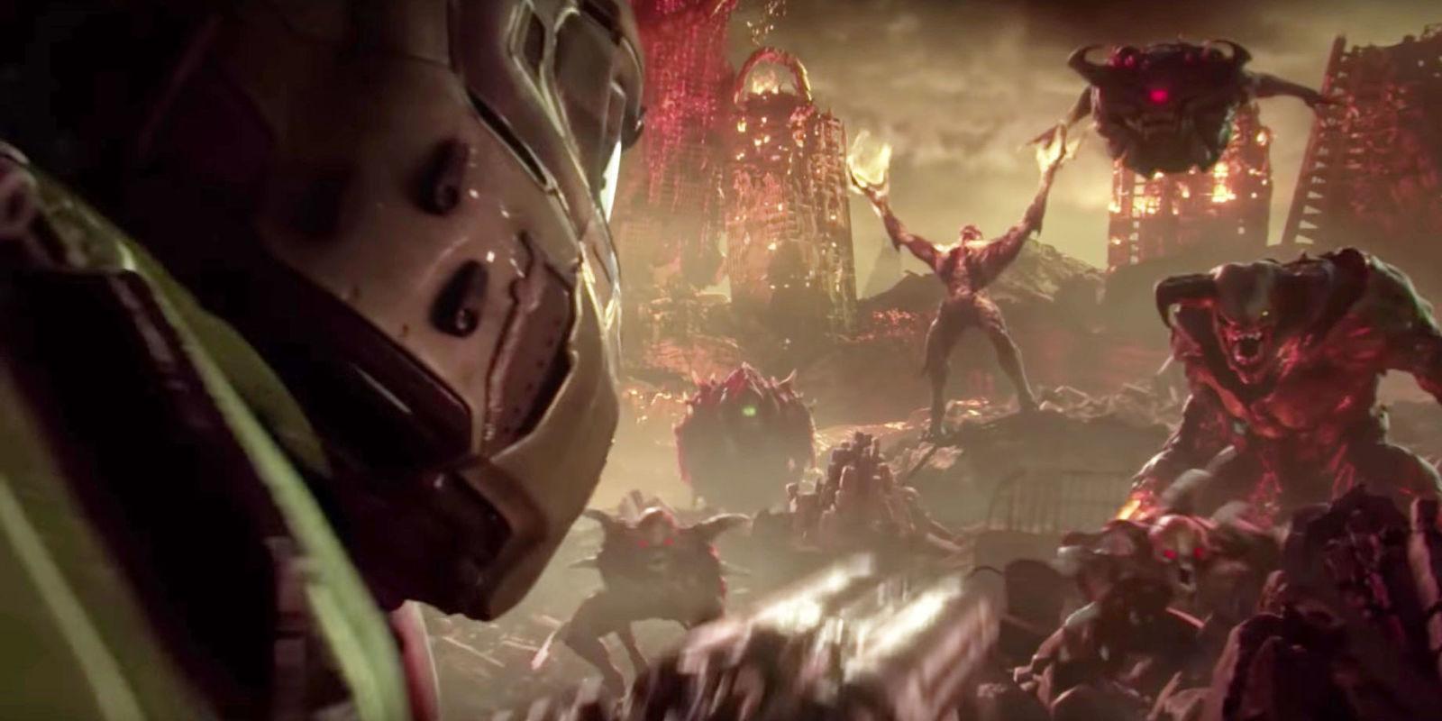 Wwe Logo Hd Wallpaper Doom 2 Aka Doom Eternal Revealed At E3 2018 And It S Going