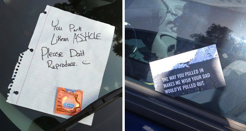Bad Inspiration 24 Creative Windshield Notes For Drivers Who Parked Horribly