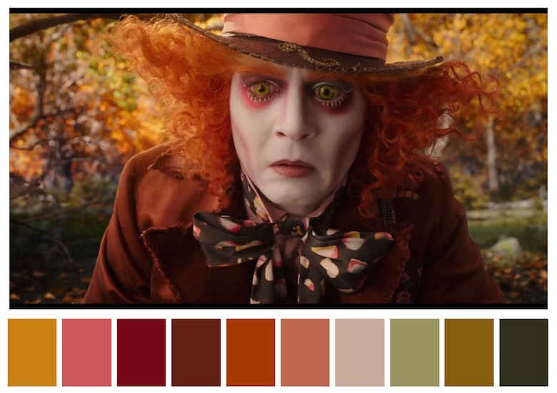 Color Palettes From Famous Movies Show How Colors Set The Mood Of A Film - sample general color chart