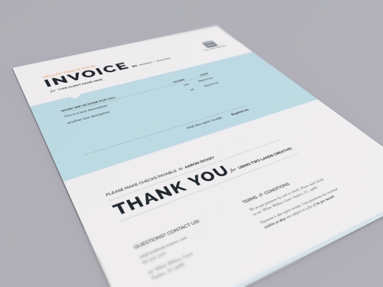 cool invoice template
