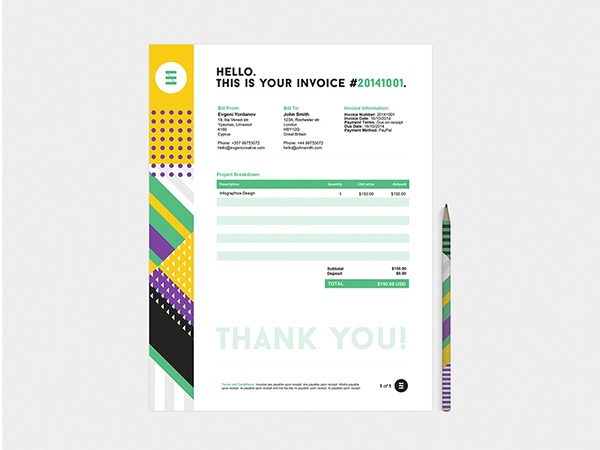 35 Creative Invoices Designed To Leave A Good Impression On Clients - graphic design invoices