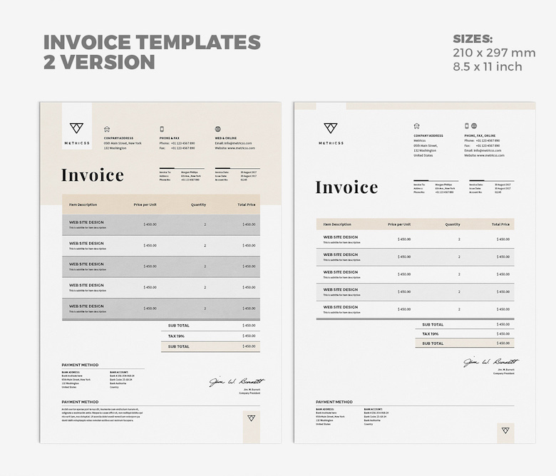 35 Creative Invoices Designed To Leave A Good Impression On Clients - designing an invoice