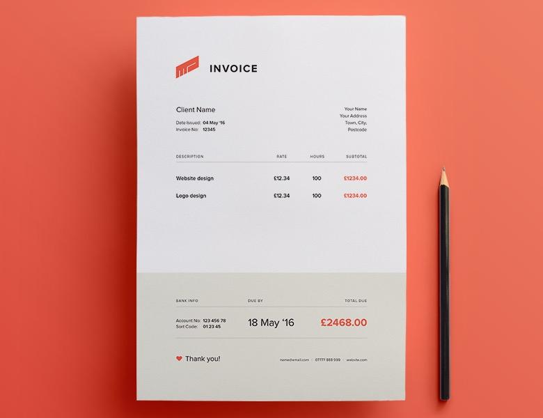 invoice design inspiration