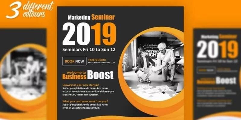 8 Best Free Marketing Flyer PSD Templates 2019 - DigitalTemplateMarket