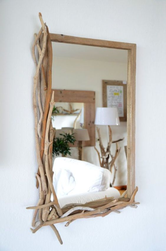 Spiegel Mit Treibholz Rahmen 74 Ideas To Use Driftwood In Home Décor - Digsdigs