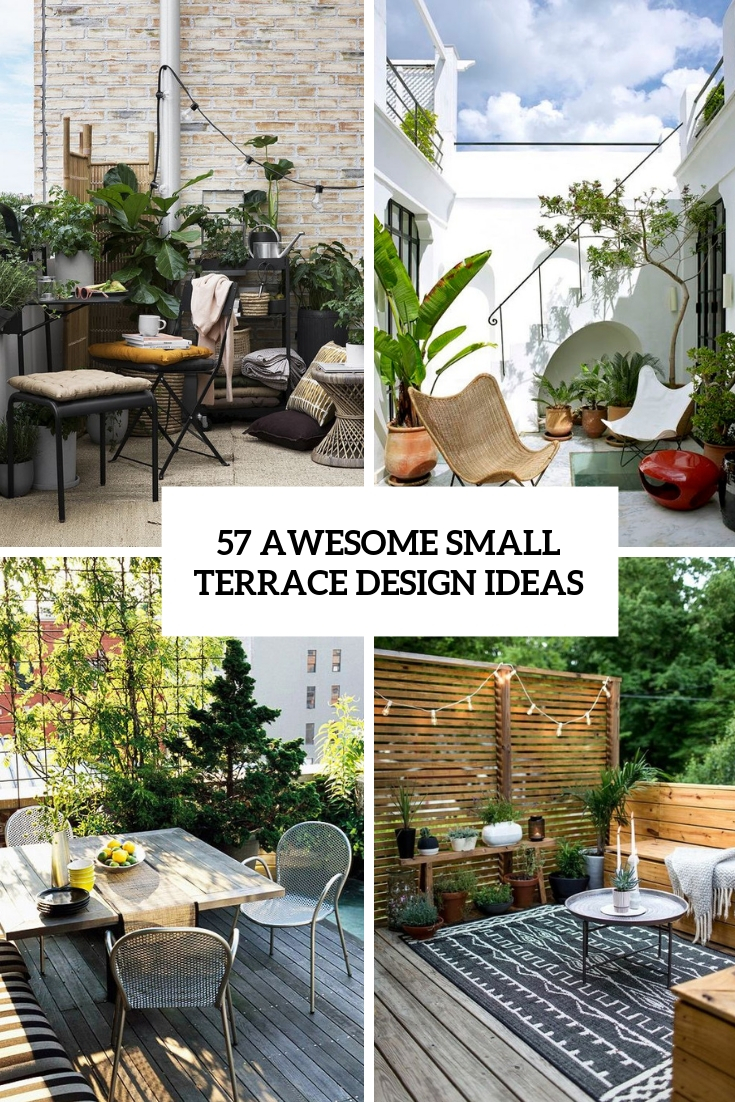 Decoration Terrasse Simple 57 Awesome Small Terrace Design Ideas Digsdigs