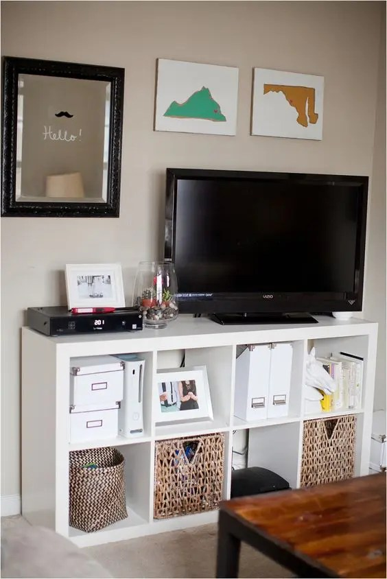 Corner Tv Stand Ikea 40 Ikea Kallax Shelf Décor Ideas And Hacks You'll Like