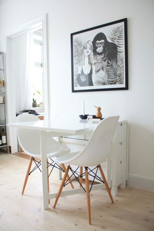 Foldable Chairs 33 Ways To Use Ikea Norden Gateleg Table In Décor - Digsdigs