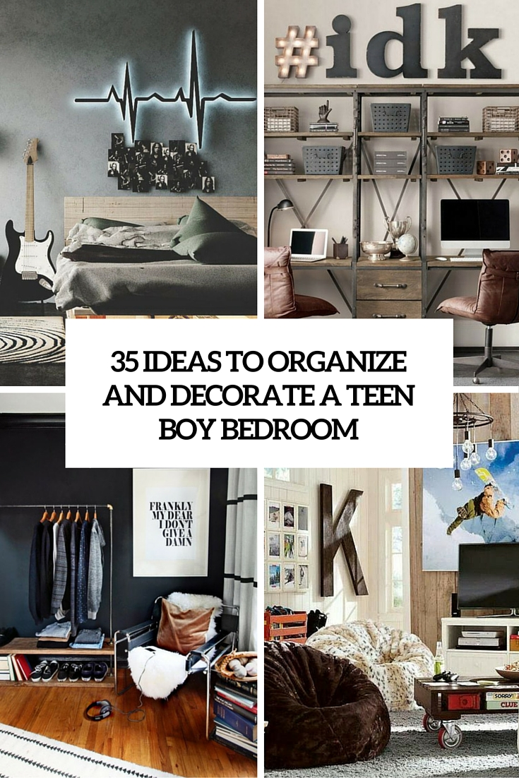 Boy Bedrooms 35 Ideas To Organize And Decorate A Teen Boy Bedroom Digsdigs