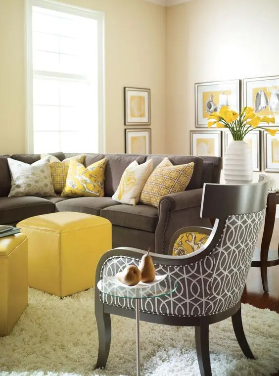 Gelbe Möbel 29 Stylish Grey And Yellow Living Room Décor Ideas - Digsdigs
