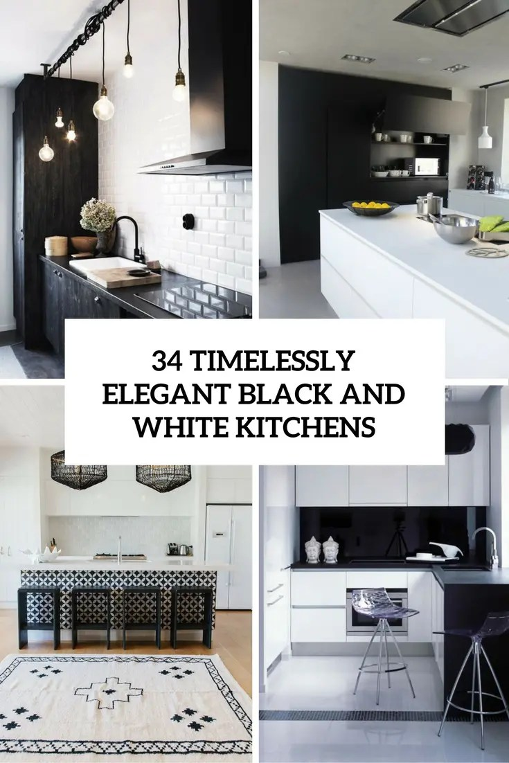 Black Design For Kitchen 34 Timelessly Elegant Black And White Kitchens Digsdigs