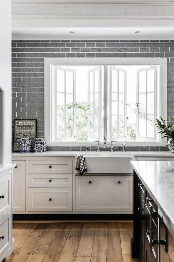 Metro Fliesen Küche Grau 35 Ways To Use Subway Tiles In The Kitchen - Digsdigs