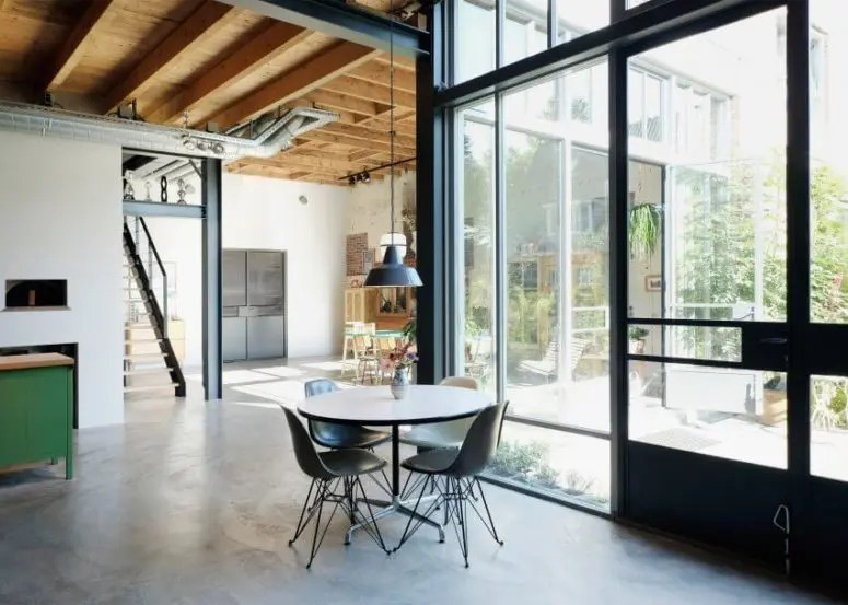 Zelf 3d Interieur Ontwerpen Industrial And Mid-century Modern Loft In An Old Barn