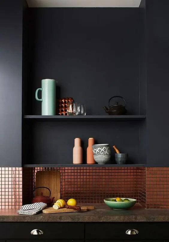 trendy chic copper kitchen backsplashes digsdigs copper backsplash design pictures remodel decor ideas page