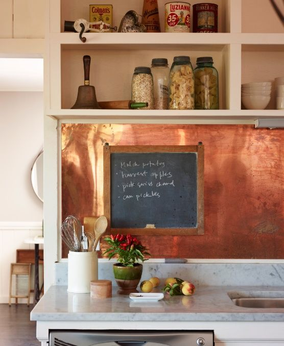 Stylish Kitchen Cabinet Pulls 27 Trendy And Chic Copper Kitchen Backsplashes - Digsdigs
