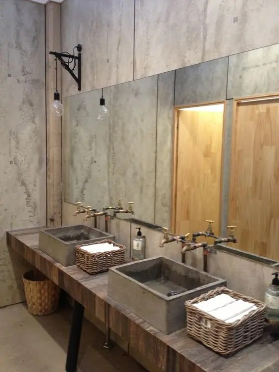 Rustic Bathroom Vanity 45 Trendy And Chic Industrial Bathroom Vanity Ideas - Digsdigs
