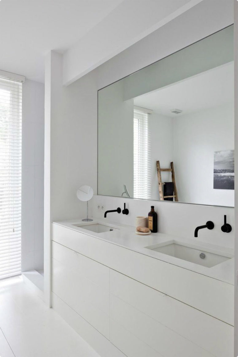 Bathroom With Mirrors 30 Cool Ideas To Use Big Mirrors In Your Bathroom Digsdigs