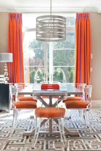 Dining Room Table Rug 33 Lucite And Acrylic Furniture Ideas For Modern Spaces