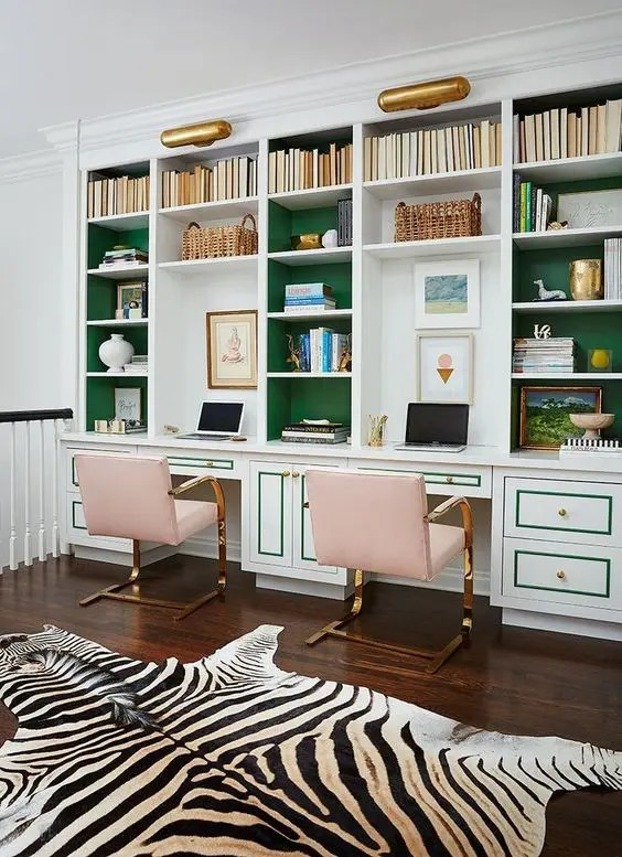 Forrar Armario Con Papel Pintado 30 Delightful Feminine Home Office Furniture Ideas - Digsdigs