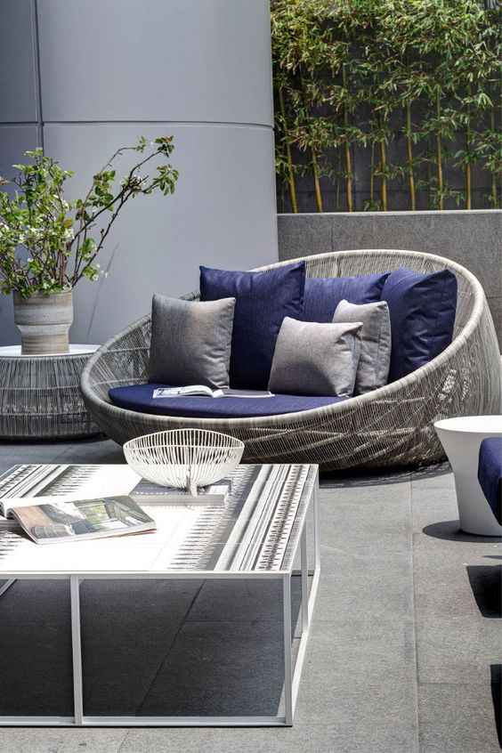 Sofa With Chaise Furniture 31 Stylish Modern Outdoor Furniture Ideas - Digsdigs