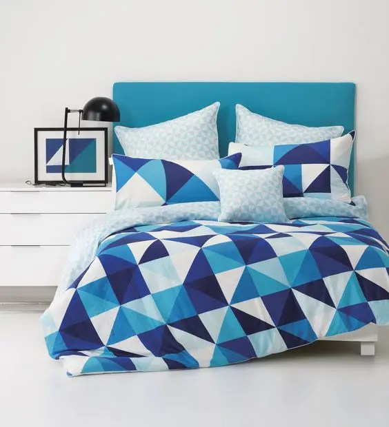 Navy Grey Bedroom Ideas 30 Timeless Geometric And Graphic Bedding Ideas - Digsdigs