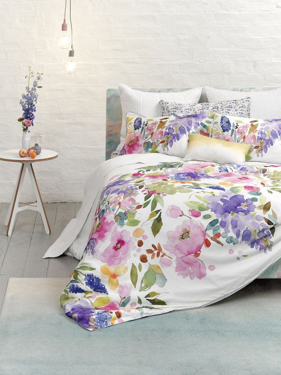 Navy Grey Bedroom Ideas 31 Beautiful And Romantic Floral Bedding Sets - Digsdigs