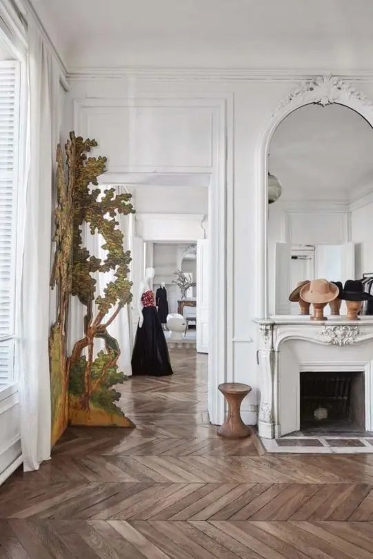 Haut Marais Paris Vintage Paris Apartment With Eclectic Features - Digsdigs