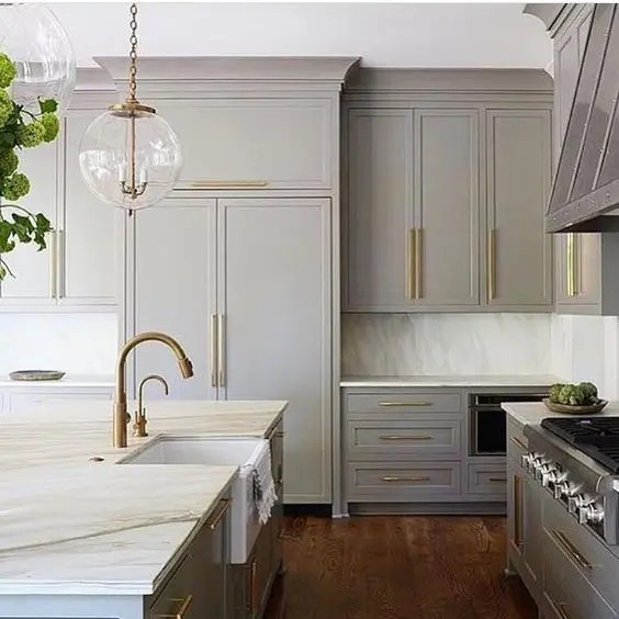 Stylish Kitchen Cabinet Pulls 30 Grey Kitchens That You'll Never Want To Leave - Digsdigs