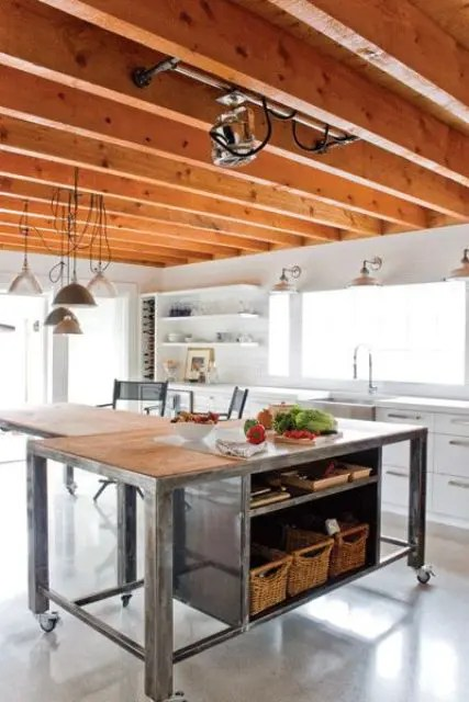 Industrial Kitchen Island 25 Industrial Kitchen Islands To Make A Statement - Digsdigs