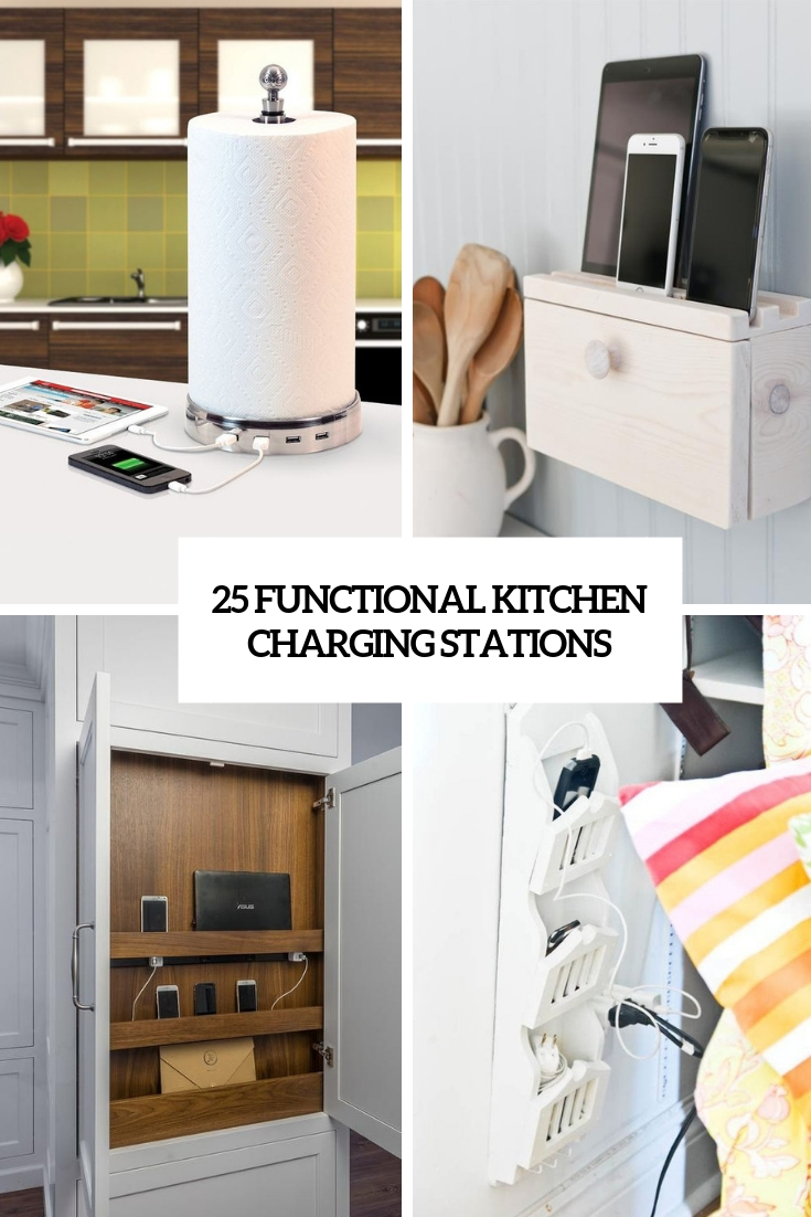 Stylish Charging Station 25 Functional Kitchen Charging Stations Digsdigs
